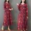 ชุดเดรสเกาหลี พร้อมส่ง Dress คอกลม ลายดอกไม้ thumbnail 4