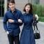 ชุดเดรสเกาหลี พร้อมส่ง เดรสผ้า cotton กับ เสื้อเชิ้ต ชาย thumbnail 5