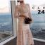 เดรสลูกไม้ พร้อมส่ง Maxi dress ลูกไม้ขาว คอปีน thumbnail 2