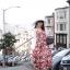 เดรสเกาหลี พร้อมส่ง ชุดเดรส ผ้าสปาเคิลพิมพ์ลายดอกไม้ thumbnail 2