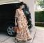 เดรสเกาหลี พร้อมส่ง ชุดเดรส Maxi Dress พิมพ์ลายดอกไม้ thumbnail 1