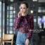 เสื้อเกาหลี พร้อมส่ง เสื้อเชิ้ต ซีฟองพิมพ์ลายจุป้าจุ๊ป thumbnail 4