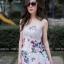 เดรสเกาหลี พร้อมส่ง Maxi dress ลายดอก thumbnail 5