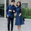 ชุดเดรสเกาหลี พร้อมส่ง เดรสผ้า cotton กับ เสื้อเชิ้ต ชาย thumbnail 1