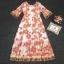 เดรสเกาหลี พร้อมส่ง ชุดเดรส Maxi Dress พิมพ์ลายดอกไม้ thumbnail 3