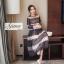 ชุดเดรสเกาหลี Maxi dress พิมพ์ลายดอก ทรงอกป้ายไขว์ thumbnail 7
