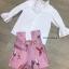 เสื้อผ้าเกาหลี พร้อมส่ง จั้มปลายแขนพองๆ กับ กางเกงเอวสูง thumbnail 6