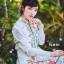 ชุดเดรสเกาหลี พร้อมส่ง เดรสแขนล้ำ คอปก ลายดอกไม้ thumbnail 9