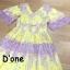 ชุดเดรสเกาหลี พร้อมส่ง Dress แขนสั้น คอวี thumbnail 8