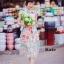 ชุดเดรสเกาหลี พร้อมส่ง เดรสแขนล้ำ คอปก ลายดอกไม้ thumbnail 2
