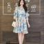 เดรสเกาหลี พร้อมส่ง Dress เดรสสั้น ลายดอก thumbnail 10