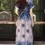 ชุดเดรสเกาหลี พร้อมส่ง Maxi dress ผ้าสปันเนื้อดีปริ้นลายสวย thumbnail 16