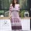 ชุดเดรสเกาหลี พร้อมส่ง Dress ปร้ินลายเชิง แต่งระบายรอบตัว thumbnail 7