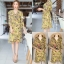 ชุดเดรสเกาหลี พร้อมส่ง Dress ลายดอกระบายทรงwrap thumbnail 5