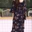 ชุดเดรสเกาหลี พร้อมส่ง dress ปริ้นลายดอก thumbnail 7