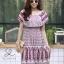 ชุดเดรสเกาหลี พร้อมส่ง Dress ปร้ินลายเชิง แต่งระบายรอบตัว thumbnail 10