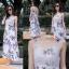 เดรสเกาหลี พร้อมส่ง Maxi dress ลายดอก thumbnail 7
