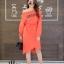ชุดเดรสเกาหลี พร้อมส่ง Long Dress เดรสแขนยาวเปิดไหล่ thumbnail 17