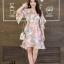 เดรสเกาหลี พร้อมส่ง Dress เดรสสั้น ลายดอก thumbnail 4
