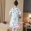 พร้อมส่ง Mini Dress เนื้อผ้ายืดพิมลาย thumbnail 5