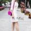 เดรสเกาหลี พร้อมส่ง Dress คอกลม แขน5ส่วน thumbnail 3