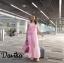 เดรสเกาหลี พร้อมส่ง แม็กซี่เดรส สุดหวานสวยน่ารัก thumbnail 6
