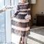 ชุดเดรสเกาหลี Maxi dress พิมพ์ลายดอก ทรงอกป้ายไขว์ thumbnail 2