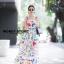 ชุดเดรสเกาหลี พร้อมส่ง เดรสลายดอกไม้ ผ้าพริ้ว thumbnail 12