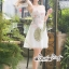 เดรสเกาหลี พร้อมส่ง เดรส เนื้อผ้าTulleสีขาวเรียบหรู thumbnail 11