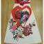 ชุดเดรสเกาหลี พร้อมส่ง เดรสยาว ลายดอกกุหลาบผสมลายหัวใจ thumbnail 7