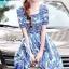 ชุดเดรสเกาหลี พร้อมส่ง Mini dress งานแบรนด์ DG thumbnail 2