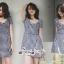 เดรสเกาหลี พร้อมส่ง Mini dress ลายตาราง Scott thumbnail 2