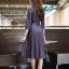ชุดเดรสเกาหลี พร้อมส่ง Dress คอวี แขน 5ส่วน thumbnail 7