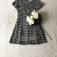 เดรสเกาหลี พร้อมส่ง Mini dress ลายตาราง Scott thumbnail 3