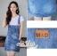 เสื้อผ้าเกาหลี พร้อมส่ง เอี๊ยมยีนส์ สีฟอกแต่งกระดุม thumbnail 7