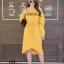 ชุดเดรสเกาหลี พร้อมส่ง Long Dress เดรสแขนยาวเปิดไหล่ thumbnail 11