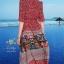 เดรสเกาหลี พร้อมส่ง เดรสผ้าซาติน ซิลพิมพ์ลาย thumbnail 5