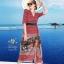 เดรสเกาหลี พร้อมส่ง เดรสผ้าซาติน ซิลพิมพ์ลาย thumbnail 14