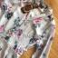 ชุดเดรสเกาหลี พร้อมส่ง เชิ้ตเดรส ผ้าชีฟองพิมพ์ลายดอกไม้ thumbnail 12