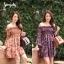 เสื้อเกาหลี พร้อมส่ง เสื้อตัวยาว อกสม็อค ลายดอก thumbnail 12