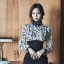 เดรสเกาหลี พร้อมส่ง เดรสเชิ้ต แขนยาว ผ้าซีทรู thumbnail 4