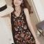 พร้อมส่ง mini dress สีดำแขนกุด thumbnail 5