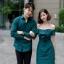 เสื้อผ้าเกาหลี พร้อมส่ง เดรสปาดไหล่ กับ เสื้อเชิ้ต ชาย thumbnail 1