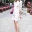 เดรสเกาหลี พร้อมส่ง Dress คอกลม แขน5ส่วน thumbnail 2