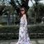 เดรสเกาหลี พร้อมส่ง Maxi dress ลายดอก thumbnail 3