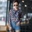 เสื้อเกาหลี พร้อมส่ง เสื้อเชิ้ต ซีฟองพิมพ์ลายจุป้าจุ๊ป thumbnail 12