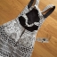 พร้อมส่ง เดรสแขนกุดผ้าลูกไม้สีขาวดำ thumbnail 16