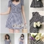 เดรสเกาหลี พร้อมส่ง Mini dress ลายตาราง Scott thumbnail 6