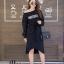 ชุดเดรสเกาหลี พร้อมส่ง Long Dress เดรสแขนยาวเปิดไหล่ thumbnail 8
