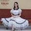 ชุดเดรสเกาหลี พร้อมส่ง Dress ผ้าลูกไม้ทอปัก thumbnail 1